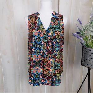 Pixley Bright Floral Sleeveless Blouse